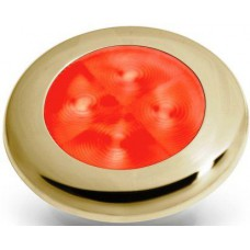 Hella red led courtesy lamp Gold rim